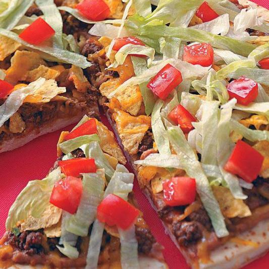 Taco Beef Pizza