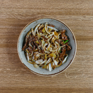 Beef with Garlic & Oyster Sauce
