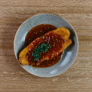 Crispy Basa Fish with Dragon's Fiery Sauce