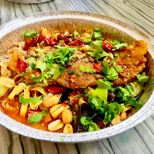 2-26. BBQ Sole Fish with Rice (spicy, no bones)