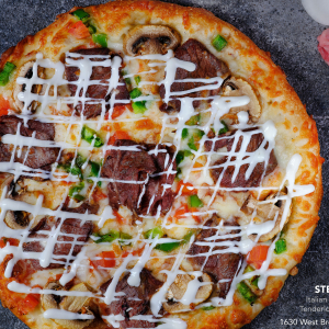 Steak Garlic Pizza