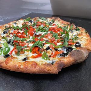 Veggie Mediterranean Pizza