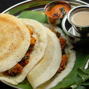 Chicken Dosa and Sambar