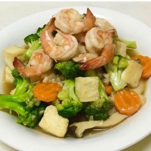 Seafood and Stir-Fried Mixed Vegetables