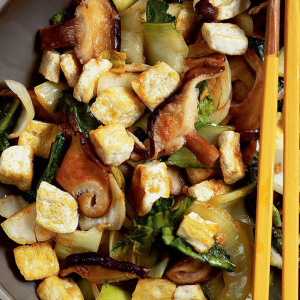 Tofu with Shitake Mushroom and Bok Choy
