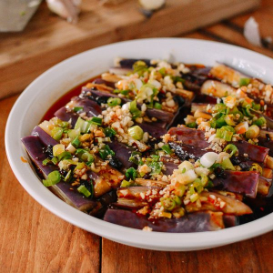 Spicy Eggplant with Preserved Egg
