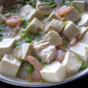 Prawns and Braised Tofu