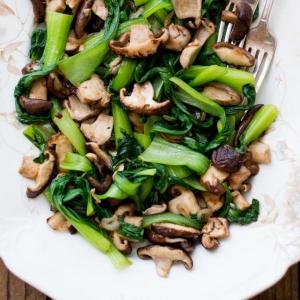 Shitake Mushroom and Bok Choy