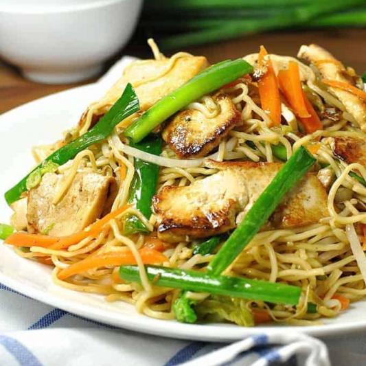 Curry Tofu Chow Mein