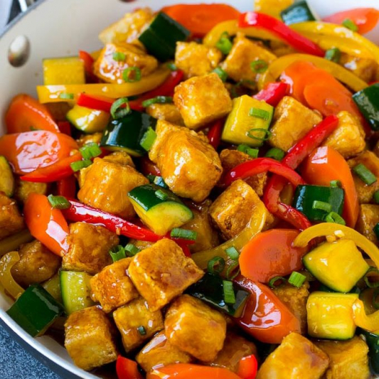 Vegetables and Crispy Tofu