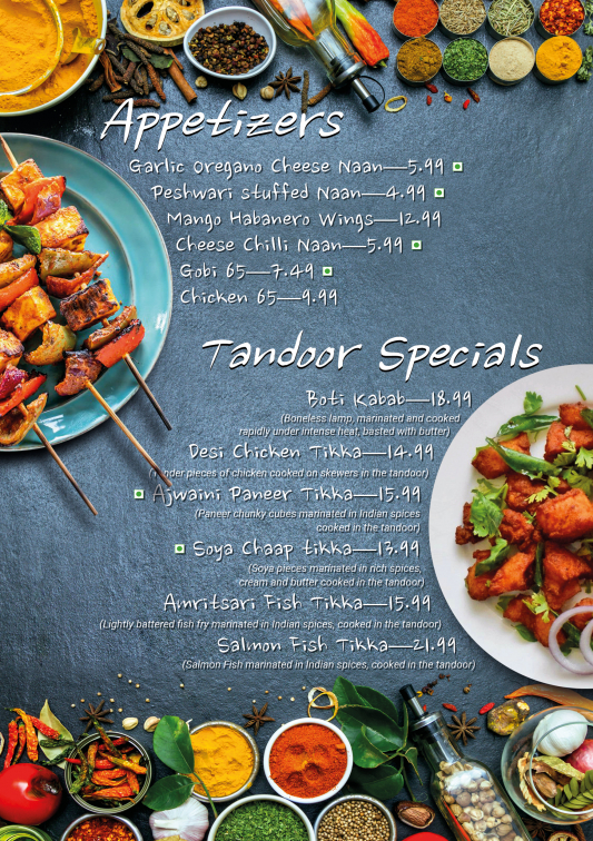 Specials and Buffet Menu