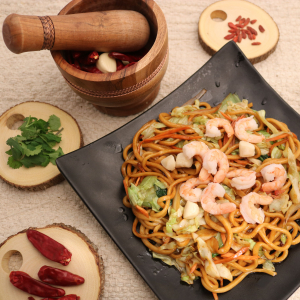 304. Seafood Chow Mein 海鲜炒面