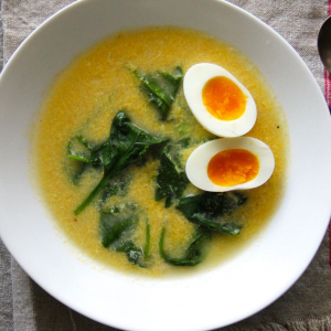 Egg and Spinach Soup